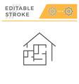 house blueprint line icon vector image