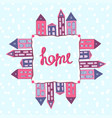 houses background home lettering winter street vector image vector image