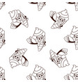 ice cream cone seamless pattern solated on white vector image vector image