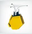 industrial billboard background vector image vector image