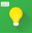 lightbulb icon business concept light bulb vector image
