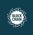 logo blockchain vector image