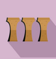longteng bridge remains icon flat style vector image