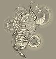 Mehndy peacock tattoo vector image