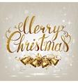 merry christmas inscription on light vector image vector image