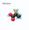 molecule of alanine ala an amino acid used in the vector image