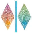 Multicolored Abstract Alchemical Bottle vector image vector image
