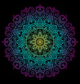 new round mandala-11 vector image vector image