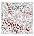 Notebook As Indispensable Tool For Modern vector image vector image