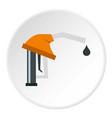 orange gasoline pump nozzle icon circle vector image vector image