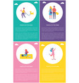 people in park girl skateboarding rest on picnic vector image vector image