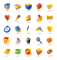 Realistic icons set for office themes vector | Price: 1 Credit (USD $1)