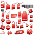retail tags on white vector image vector image