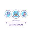 sad remission concept icon vector image vector image