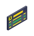 Scoreboard air travel isometric 3d icon vector image