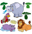 set of african animals 1 vector image