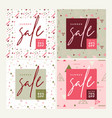 set of mobile banners summer sale vector image vector image