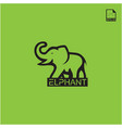 simple logo concept elphant for animal icon vector image vector image