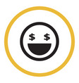 smile icon in the circle vector image vector image