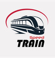 speed train logo template stylized symbol vector image vector image