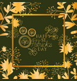 st patricks day frame with coins and clovers vector image