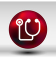 stethoscope icon on isolated background vector image