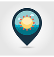 Sun pin map icon Summer Vacation vector image vector image