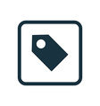 tag icon Rounded squares button vector image