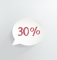 Thirty Percent Discount vector image vector image