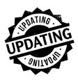 updating rubber stamp vector image vector image