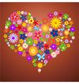 valentine flower heart2 vector image vector image