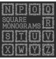 Vintage monograms set Letters from N to Z in vector image