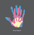watercolor handprint of family vector image