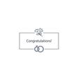 Wdding congratulations celebration card vector image vector image