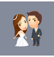 wedding cartoon invitation and graphic design vector image