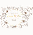 wedding event invitation card template round vector image