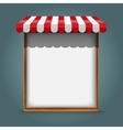 white frame with red awning vector image vector image