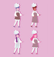 women female chef professional occupation vector image vector image