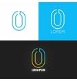 Number zero 0 logo design icon set background vector image