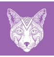 an Ornamental Ethnic Lynx vector image