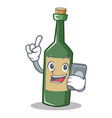 with phone wine bottle character cartoon vector image