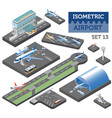 3d isometric airport and city map constructor vector image vector image