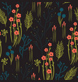 abstract flowers seamless patterns vector image