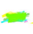 acrylic brush strokes design element with vibrant vector image