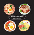 asian street food collection vector image vector image