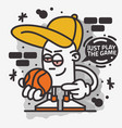 basketball themed street art graffiti aesthetic vector image