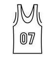 basketball vest icon outline style vector image vector image