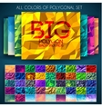 Big set of polygonal colorful backgrounds vector image vector image