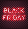 black friday neon sign vector image