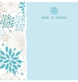 Blue and gray plants square torn seamless pattern vector image vector image